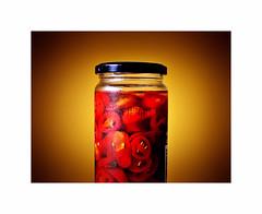 Heat ! (CJS*64) Tags: jalapeno chillies jalapenochillies 35mmlens 35mm18lens jar food hot red redhot dslr d7000 nikon nikkorlens nikkor nikond7000 retro cjs64 craigsunter cjs