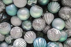 Blue deco (OranK7) Tags: christmas blue ball deco decoration sparkle flash gift light happy nikon