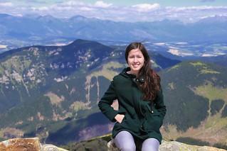 Samantha on top of Slovakia