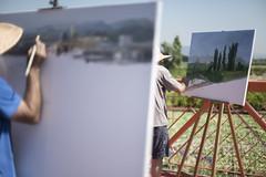 Doble exposición (fffrancis) Tags: nikon d750 nikkor 50mmf12 ais retrato doble pintor concursopintura massamagrell fffrancis junio 2017