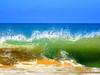 Ahungalla, Sri Lanka - March 2017 (Keith.William.Rapley) Tags: ahungalla srilanka ceylon beach sea sand blue bluesky crashingwave wave spray keithwilliamrapley rapley coast seaside march2017