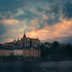 Mariaberget (photomatic.se) Tags: ifttt 500px fire sky sunset tower sweden dramatic stockholm spire pointy cloudporn söder södermalm mariaberget