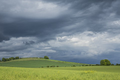 Stormy Clouds 1 (stevedewey2000) Tags: sonyrx10 cloudscape skyscape landscape hampshire grateley quarley quarleyhill hillfort cumulus showerclouds showers clouds cloud rainclouds stormy storm 32