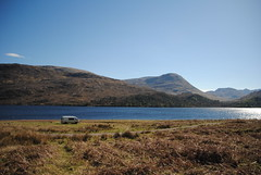 Not a bad start to the holiday (What I saw...) Tags: loch arkaig highlands scotland toyota hiace campervan
