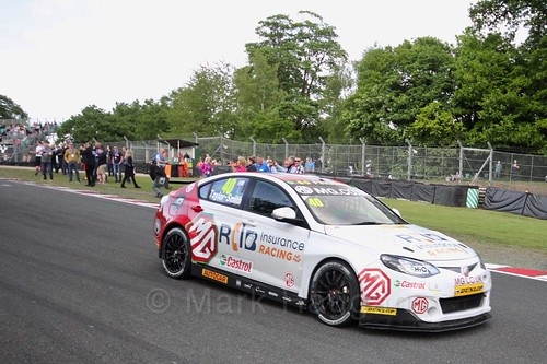 Aron Taylor-Smith on BTCC grid at Oulton Park, May 2017