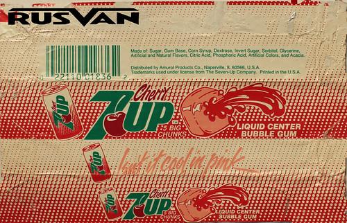 7-up bubble gum gomme wrapper foil