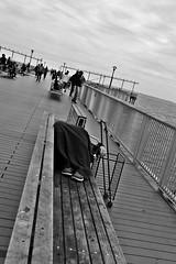 So Tired (Robert S. Photography) Tags: bench boardwalk people portrait pier sleeping fishing water sea scenery beach coneyisland brooklyn nyc nikon coolpix l340 iso80 may 2017
