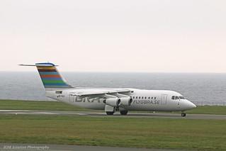 Braathens Regional Avro RJ100 SE-RJI at Isle of Man EGNS 01/06/17