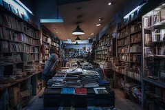 Time to read (karinavera) Tags: travel sonya7r2 argentina store books street buenosaires view library night cinematicphotography