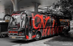 Black Beauty (movingbuses) Tags: bus volvo national black spirit 75 travels india