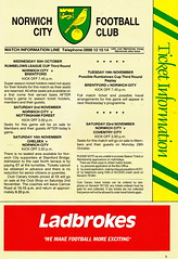 Norwich City vs Luton Town - 1991 - Page 5 (The Sky Strikers) Tags: norwich city luton town barclays league division one carrow road official matchday programme pound twenty