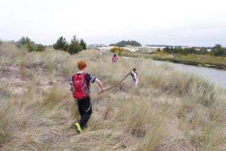 Return to Tenmile Creek, inland