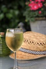 verfrissend (Don Pedro de Carrion de los Condes !) Tags: donpedro d700 tuin wijn glas beslagen koud ijsklontje verfissend zomerhoedje dorst lessen drankje drinken drink wine zomerdag