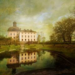 Baroque castle. (Birgitta Sjostedt) Tags: architecture castle old ancient paint texture naturelandscape reflections spring tree park magicunicornverybest ie birgittasjostedt