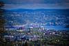 Oslo and Olsofjord viewed from Holmenkollen Oslo Norway