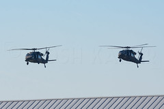 DOUBLE HAWKS (Kaiserjp) Tags: 8423969 8624490 ftlewis grayaaf jblm usarmy uh60 uh60a waarng military helicopter blackhawk