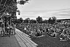 La La Land Crowd (brev99) Tags: d610 tamron28300xrdiif tulsa downtown people bradyartsdistrict guthriegreen blackandwhite crowd audience nikdfine perfecteffects17 on1photoraw2017 ononesoftware
