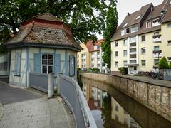 Göttingen old & new (oldad57) Tags: germany göttingen lumix panasonic tz60 building oldnew water