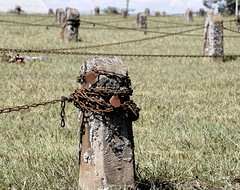 Cemetery Of Rusty Chains (95wombat) Tags: old decayed decrepit sad relic psychiatric cemetery northcarolina