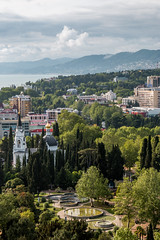 Sochi City (DVchigarev) Tags: sochi russia canon canon70d canonphotography sky clouds cityscape landscape nature architecture mountains caucasian krasnodar kuban vsco lightroom 24105 l usm digital amazing day spring may