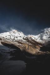 Annapurna Base Camp (Kate Nichanun) Tags: landscape travel trekking annapurna annapurnabasecamp abc mountain sunrise white snow himalayas himalaya nepal blue winter