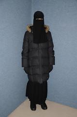 Very warm clothed (Warm Clothes Fetish) Tags: slave warm hot fleece anorak girl sweat sweaty coat boots niqab hijab burka chador torture hat winter