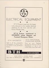British Thomson-Houston, Coventry works - advert 1938 (mikeyashworth) Tags: britishthomsonhouston bth coventry advert 1938 mikeashworthcollection typography