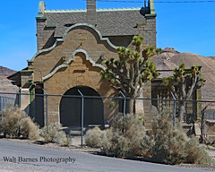 L.V. and T. railroad depot (Walt Barnes) Tags: casino rhyolite canon eos 60d eos60d canoneos60d wdbones99 topazsoftware pse15 track trackside rail railroad museum miningcamp miningtown mine gold silver history vintage old historic structure architecture building stone ghosttown