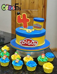 Play-Doh Themed Cake (bsheridan1959) Tags: playdohcake cake birthdaycake kidscake cupcakes playdoh