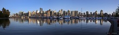 Coal Harbour Panorama (Clayton Perry Photoworks) Tags: vancouver bc canada spring explorebc explorecanada skyline stanleypark coalharbour buildings boats reflections panorama
