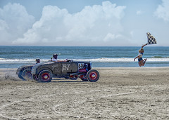 Race of Gentlemen 2017 (Daveyal_photostream) Tags: wildwoodnewjersey raceofgentlemen2017 nikon nikor newjersey ocean flaggirl antique antiquecar classiccar classic sand shore nature sea seascape race dragrace 57 antioqueford beachlife sandy wave shoreline flathead tires wheels cool oldtime engine fordflathead hotroddirtdrags girl jumpinggirl jump flag flagstart dirtdrags speedracer speed draggin trog oilers