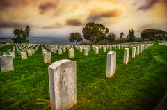 Memorial Day (danielledufour430) Tags: sandiego california pointloma fortrosecrans fortrosecransnationalcemetery cemetery graves gravestones military respect remember honor memorial memorialday holiday america landscape clouds sky sonya6000