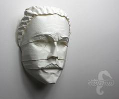 It's all in the eyes. (mitanei) Tags: origami faces paperart human papierkunst sculpture facesculpture mitanei keepfoldingon keepfodlingon