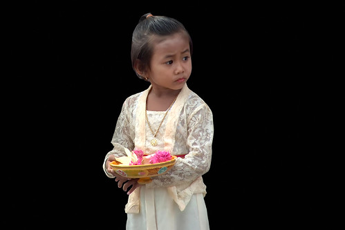 Indonesia - Bali - Padangbai - Young Girl At Temple Ceremony - 88