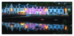 Portree in the Pink (don't count the pixels) Tags: scotland portree skye isleofskye highlands islands highlandsandislands scottishhighlands reflections water colour pink blue sea harbour