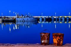 secchi nel blu (luporosso) Tags: blu orablu bluhour porto pier barche boats peschereccio civitanovamarche adriatico