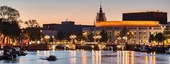 Nationale Opéra & Ballet - Amstel - Amsterdam (valecomte20) Tags: blauwbrug nationaleopéraballet amsterdam amstel nikon d5500 nuit crépuscule sunset bay