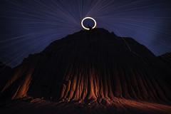 Mount Doom (Lightcrafter Artistry) Tags: badlands night light lighting steelwool sparks mountain lightpainting nightphotography longexposure geology mountdoom