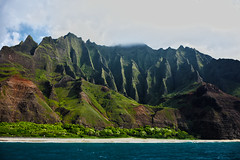 nature's cathedral (kaimonster) Tags: hawaii kauai ocean water mountain napalicoast landscape clouds