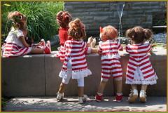 Kindergartenkinder ... (Kindergartenkinder) Tags: dolls himstedt annette frühling park blume garten kindergartenkinder essen grugapark personen milina tivi annemoni blumen seerosen jinka leleti kind