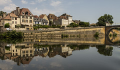 waterfront reflections (PDKImages) Tags: bergerac france reflections water gironde heron bridge river dordogne waterfront