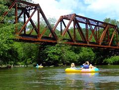 Toccoa River (M R Stephens) Tags: appalachia bridge georgia l nature outdoors railroad river sky mccaysville copperhill