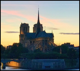 Notre Dame at sunset...