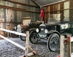 Touring cars (SteveMather) Tags: modelt ford early antique restored dealer aftermarket accessories options 2017 pioneerflightmuseum kingsbury tx texas iphone 6s procamera vividhdr dfine viewpoint anthropics smartphotoeditor old vintage airplane plane aircraft preservation restoration reproduction