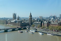 View from the Eye (smilla4) Tags: westminsterbridge bigben housesofparliament thames boats london england