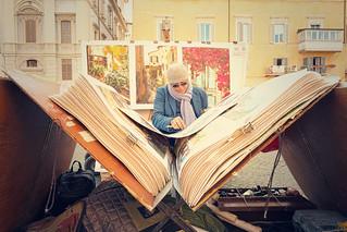 Street painters in Piazza Navona