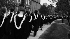'tis the season (halifaxlight) Tags: canada novascotia halifax universityofkingscollege students graduation procession gowns hoods campus university bw