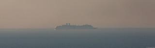 The cruise ship Zuiderdam, IMO 9221279; off Portknockie