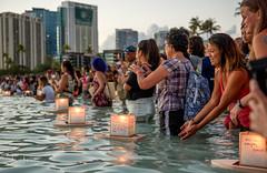 Lantern Floating Hawaii Ceremony Memorial Day 2017 08 (JUNEAU BISCUITS) Tags: lanternfloatinghawaii memorialday honor sunset alamoana alamoanabeachpark lantern japanese oahu honolulu peace aloha hawaii nikon nikond810