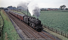 1966 - London Express, at Woodthorpe.. (Robert Gadsdon) Tags: 1966 greatcentral br lms black5 44835 woodthorpe nottinghammaryleboneexpress steam withdrawn scrapped preservedtrack